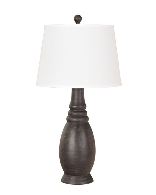 Sydna Antique Black Poly Table Lamp (2/CN)