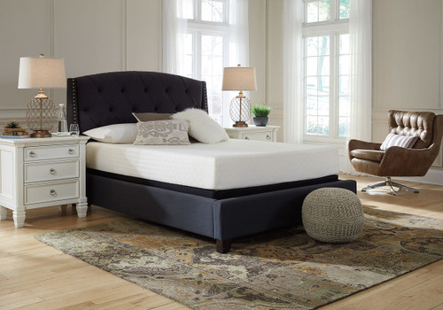 10 Inch Chime Memory Foam White Full Mattress & Foundation
