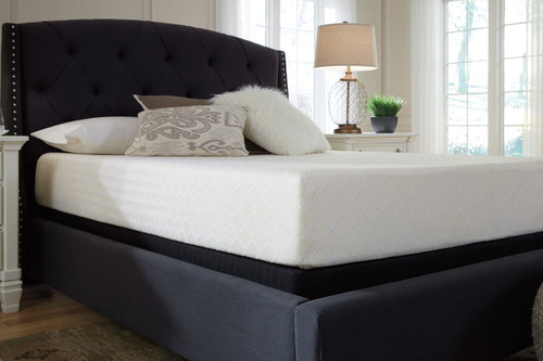 10 Inch Chime Memory Foam White Queen Mattress & Foundation