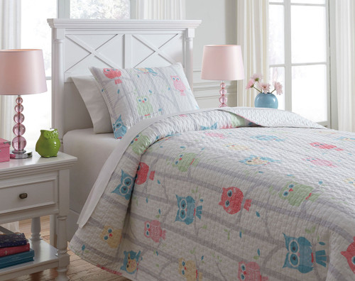 Lucille Multi Twin Coverlet Set