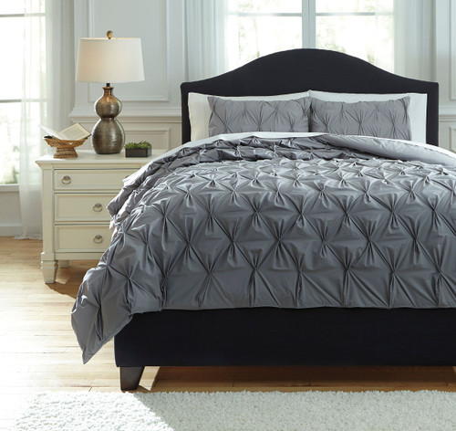 Rimy Gray King Comforter Set