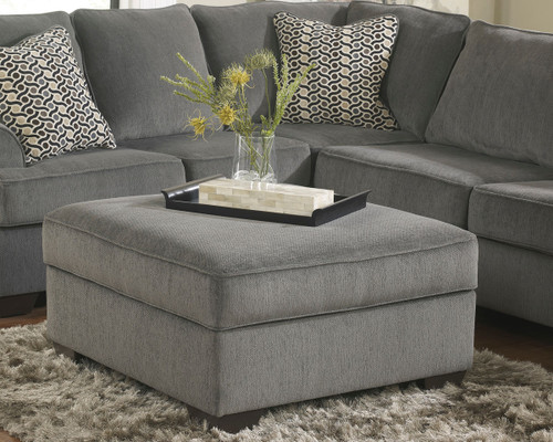 Loric Smoke Ottoman With Storage