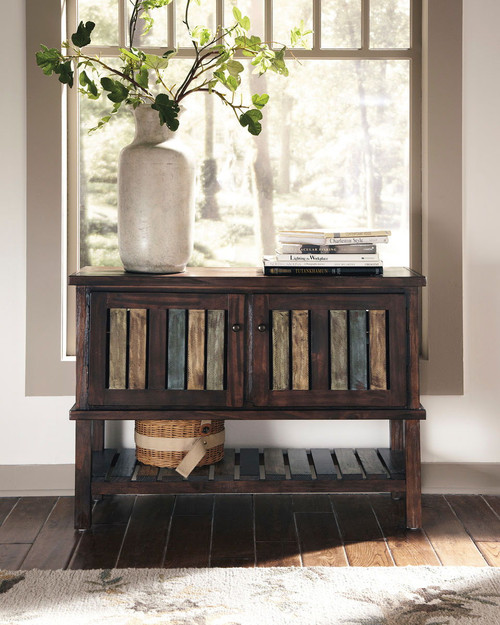 Mestler Rustic Brown Console
