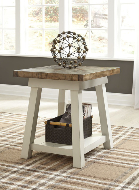 Stownbranner Two-tone Rectangular End Table