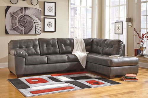 Alliston DuraBlend® Gray Left Arm Facing Sofa & Right Arm Facing Corner Chaise Sectional