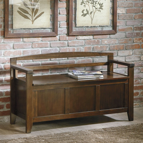 Charvanna Dark Brown Storage Bench