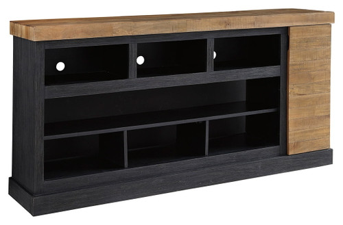 Tonnari Two-tone Brown XL TV Stand w/Fireplace Option