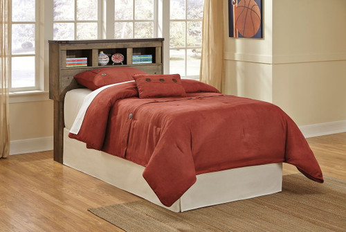 Trinell Brown Twin Bookcase Headboard