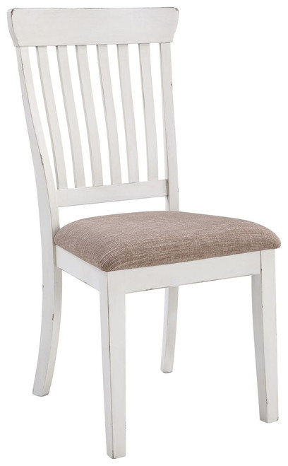 Danbeck Light Brown/White Dining Upholstered Side Chair (Set of 2)