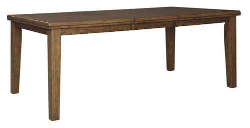 Flaybern Brown Rectangular Butterfly Extension Table