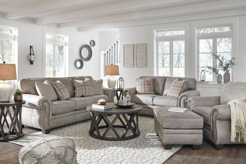 Olsberg Steel Sofa, Loveseat, Chair & Ottoman