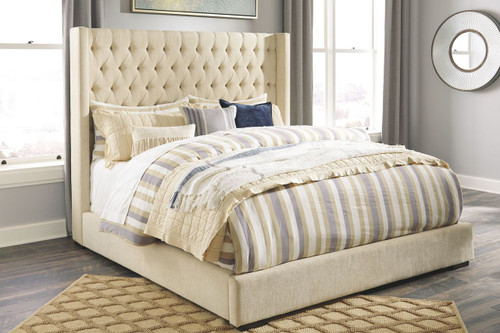 Norrister Beige California King UPH Bed