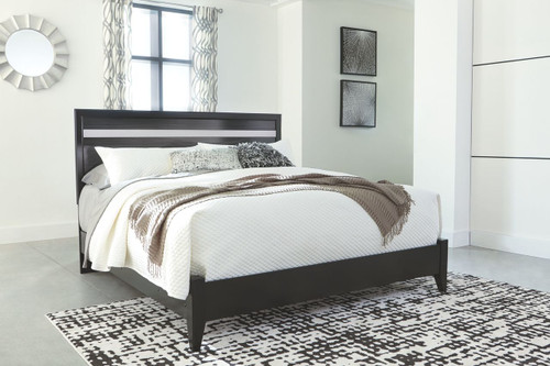 Starberry Black King Panel Bed