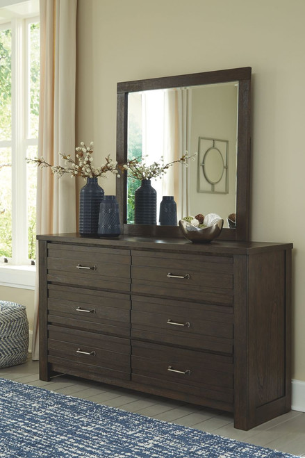 Darbry Brown Dresser & Mirror