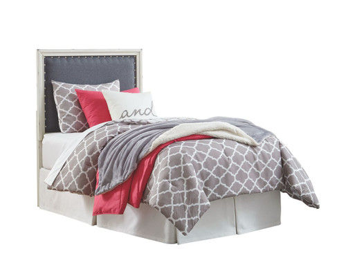 Faelene Gray Twin Upholstered Panel Headboard