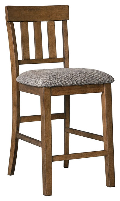 Flaybern Brown Upholstered Barstool (Set of 2)