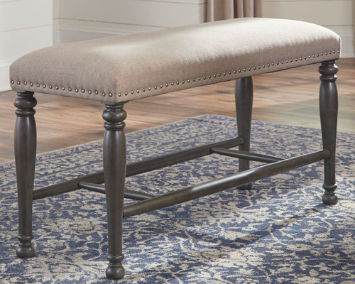 Audberry Tan Double Upholstered Bench (1/CN)