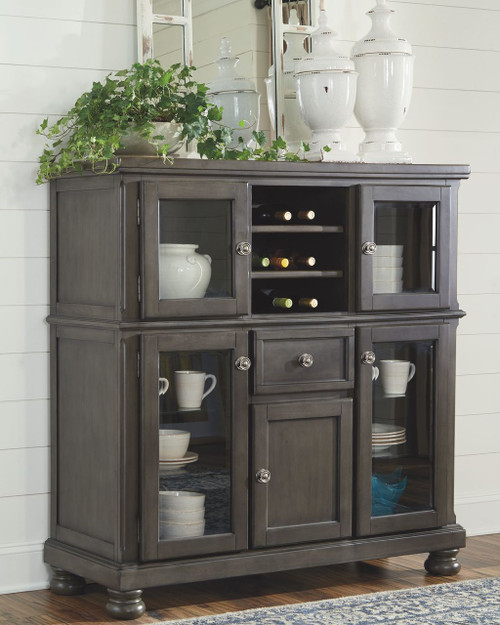 Audberry Dark Gray Dining Room Server