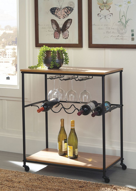 Jadonport Brown/Black Bar Cart