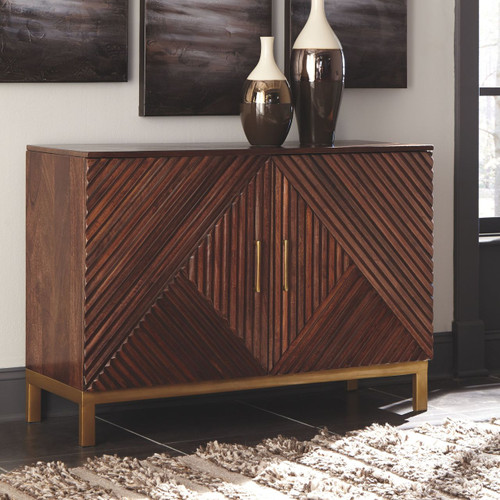 Forestmin Medium Brown Accent Cabinet