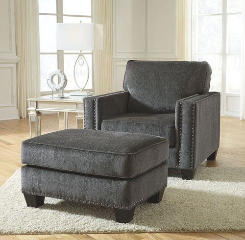 Gavril Smoke Chair with Ottoman
