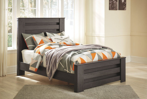 Brinxton Black Full Panel Bed