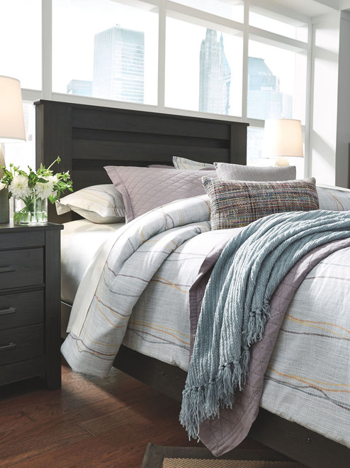 Brinxton Black Full Panel Headboard