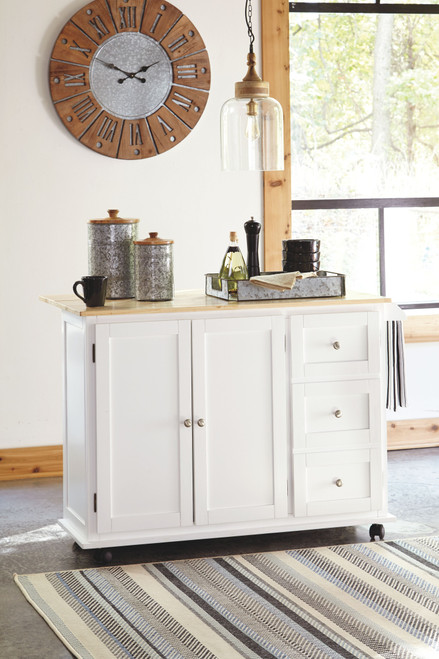 Withurst White/Light Brown Kitchen Cart