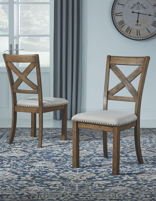 Moriville Beige Dining UPH Side Chair (Set of 2)