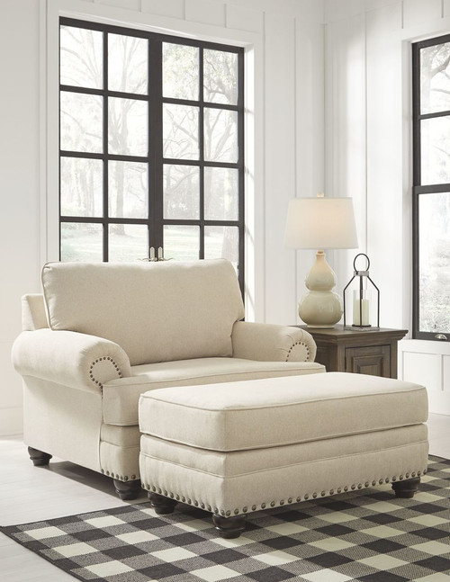 Harrietson Shell Chair and a Half with Ottoman