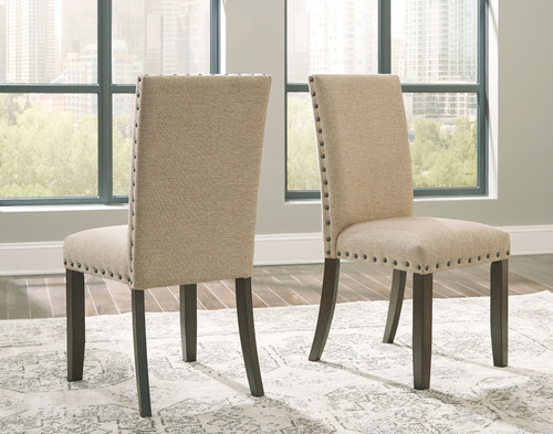 Rokane Light Brown Dining Upholstered Side Chair (Set of 2)