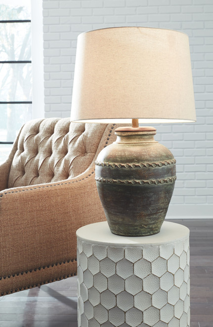Mairead Green Terracotta Table Lamp (1/CN)