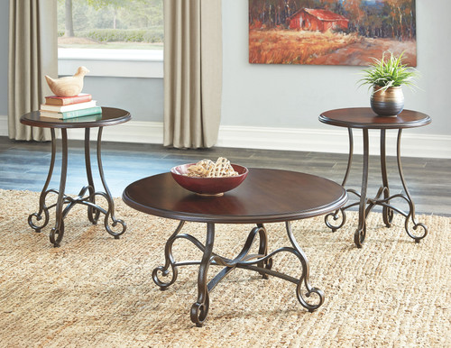 Carshaw Brown Occasional Table Set (3/CN)