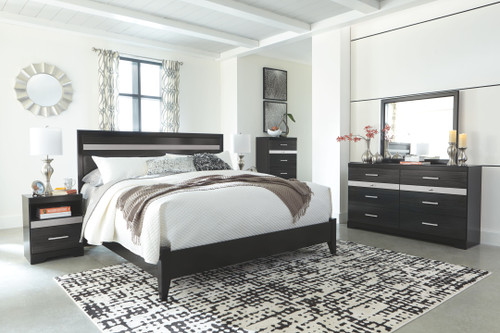 Starberry Black 5 Pc. Dresser, Mirror, Chest & King Panel Bed