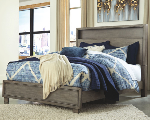 Arnett Gray Queen Storage Bed