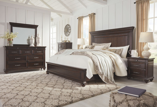Brynhurst Dark Brown Queen Panel Bed
