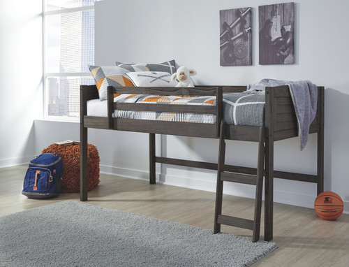 Caitbrook Gray Twin Loft Bed Frame