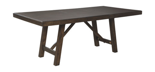 Rokane Brown Rectangular Dining Room EXT Table