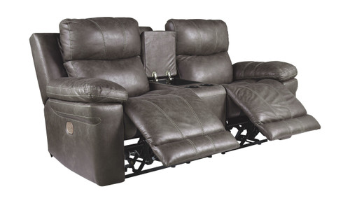 Erlangen Midnight Power Reclining Loveseat/CON/ADJ HDRST
