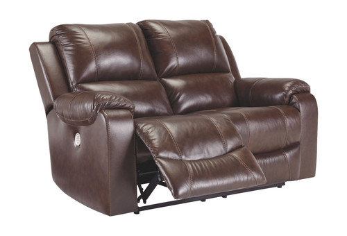 Rackingburg Mahogany Reclining Power Loveseat
