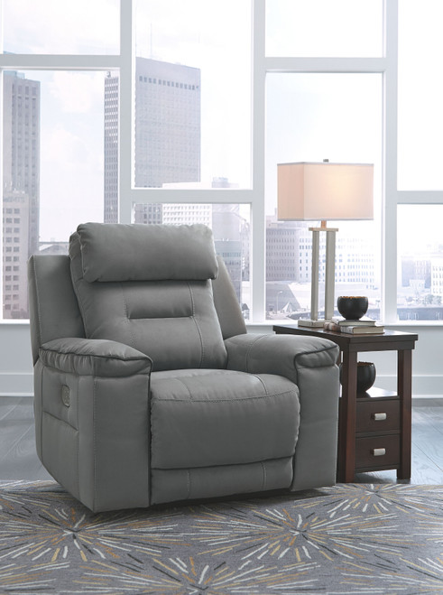 Trampton Smoke Power Recliner/ADJ Headrest
