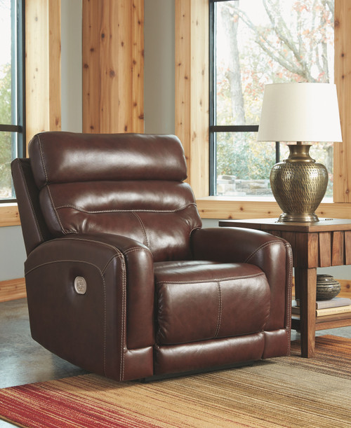 Sessom Walnut Power Recliner/ADJ Headrest