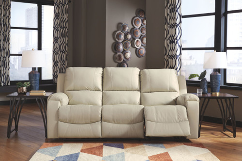Rackingburg Cream Reclining Power Sofa