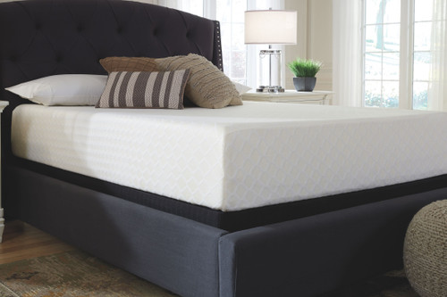 Chime 12 Inch Memory Foam White California King Mattress & Foundation (2 RQD)