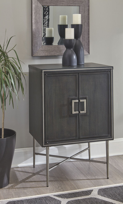 Beritbury Antique Gray Accent Cabinet