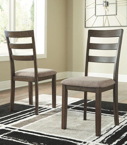 Drewing Brown Dining Upholstered Side Chair (Set of 2)