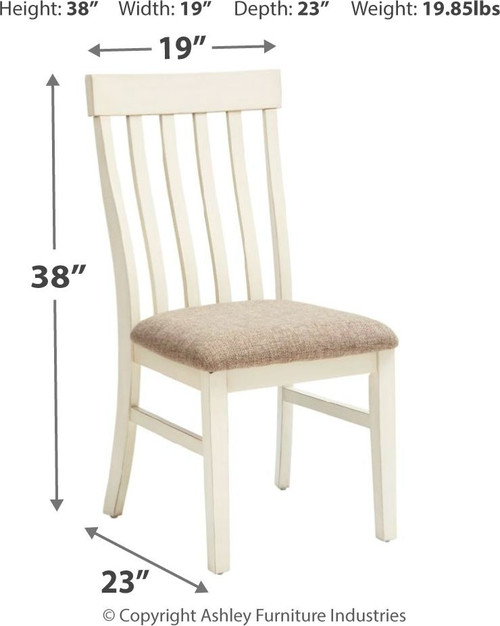 Bardilyn Antique White Dining Upholstered Side Chair (Set of 2)