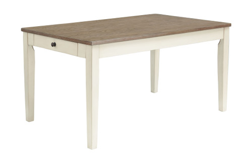 Bardilyn Antique White/Brown Rectangular Dining Room Table