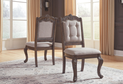 Charmond Brown Dining Upholstered Side Chair (Set of 2)