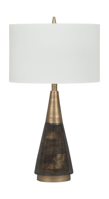 Lyrah Black/Gold Finish Wood Table Lamp (1/CN)